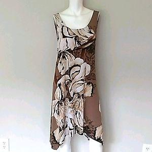 Skye's The Limit Brown Floral Dress. Size M/L
